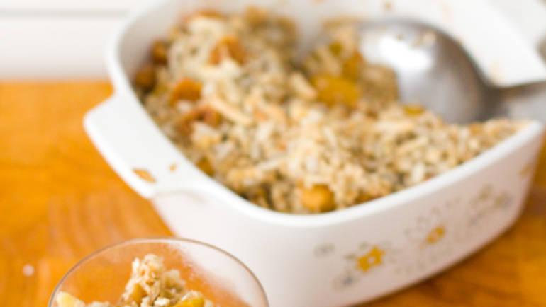 Good Food Friday : Cleansers apple crumble