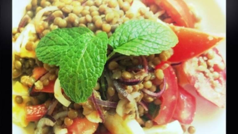 Good Food Friday : Lentil and Haloumi Salad