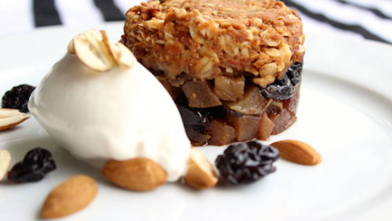 Good Food Friday: Pear and Sour Cherry Crumble from Such Different Eats