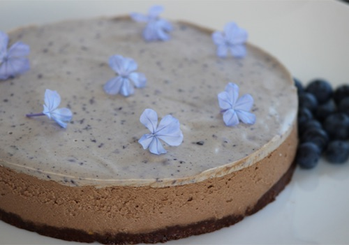 Double Choc Cheesecake with Blueberry Cream