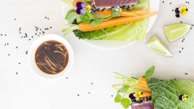 Foodie Friday :: Sesame Tuna Spring Rolls