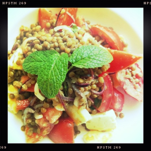 Good Food Friday : Lentil and Haloumi Salad