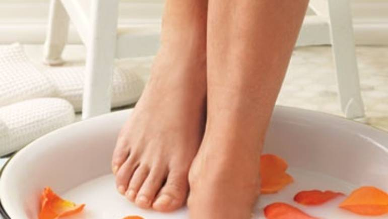 Bathe your feet for fertility!