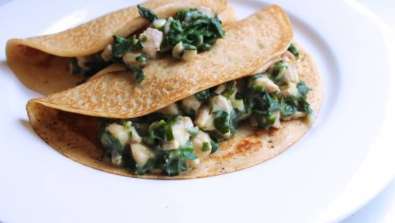 Good Food Friday : silverbeet mash-up crepes