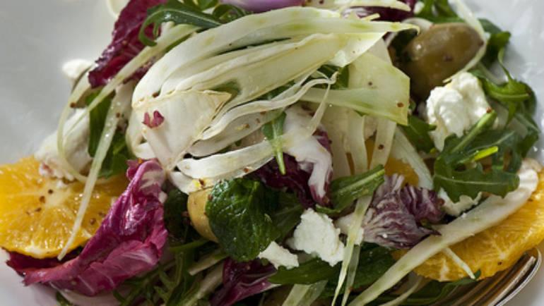 Good Food Friday : Fennel, orange and spanish onion salad with goat milk fetta.