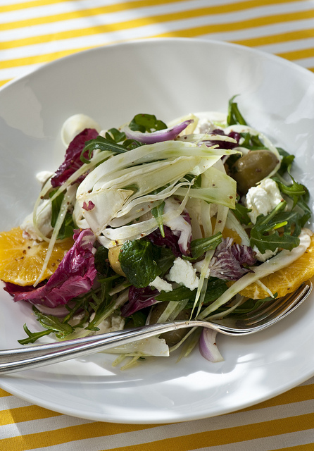 Good Food Friday : Fennel, orange and spanish onion salad with goat milk fetta.