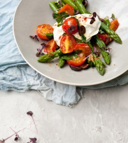 Good Food Friday: Pete Evans' warm asparagus salad with buffalo mozzarella and cherry tomatoes