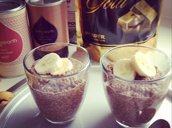 WARM maca & chia seed pudding – and my 'opinion' with Angelina Jolie's situation