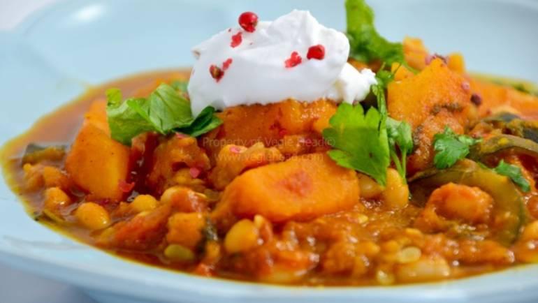 Good Food Friday : Vegie Head Adele's Pumpkin and Chickpea Tagine