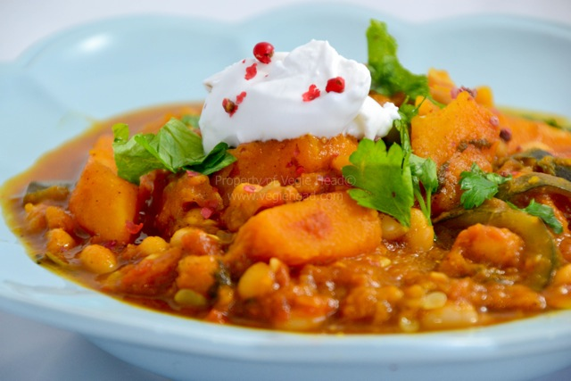Good Food Friday : Vegie Head Adele's Pumpkin and Chickpea Tagine