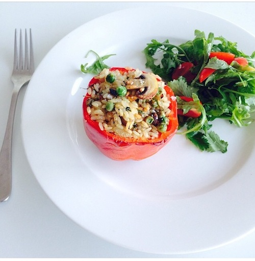 Good Food Friday: My Stuffed Capsicums and an announcement!