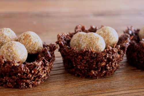 Good Food Friday: Amy's Easter choc nests and Fig & Walnut 'eggs'