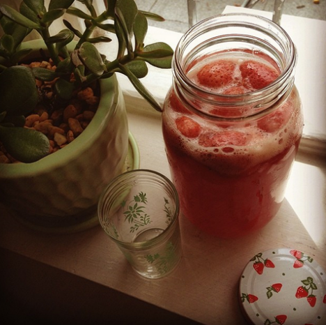 Good Food Friday: Sarah Wilson's Strawberry and Vanilla Kombucha