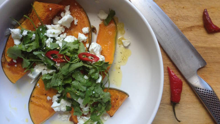 Your winter warmer – Roast Pumpkin Salad