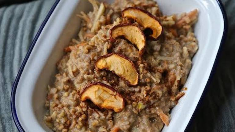 Chloe's Carrot, Apple and Cinnamon Buckwheat Porridge Recipe