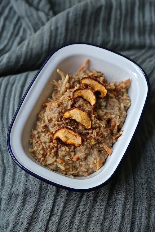 Chloe's Carrot, Apple and Cinnamon Buckwheat Porridge Recipe