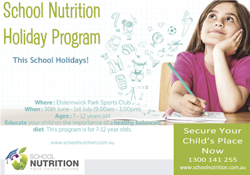 School Nutrition - School Holiday Ad